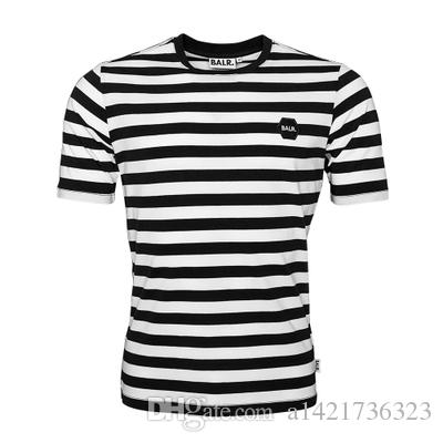 homens tshirt BALRED 2019 BALR estilo da camisa t moda verão de manga curta vestuário tshirt fundo redondo roupa longa volta BALR tamanho Europeia