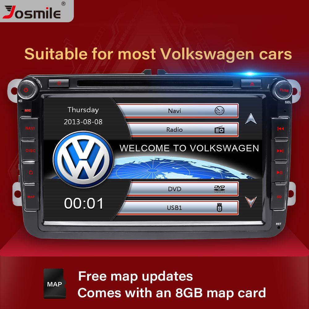 Josmile 2 Din DVD do carro para VW Volkswagen Passat B6 B7 Skoda Octavia Superb 2 T5 Golf 5 Polo Seat Leon Radio GPS Navigation
