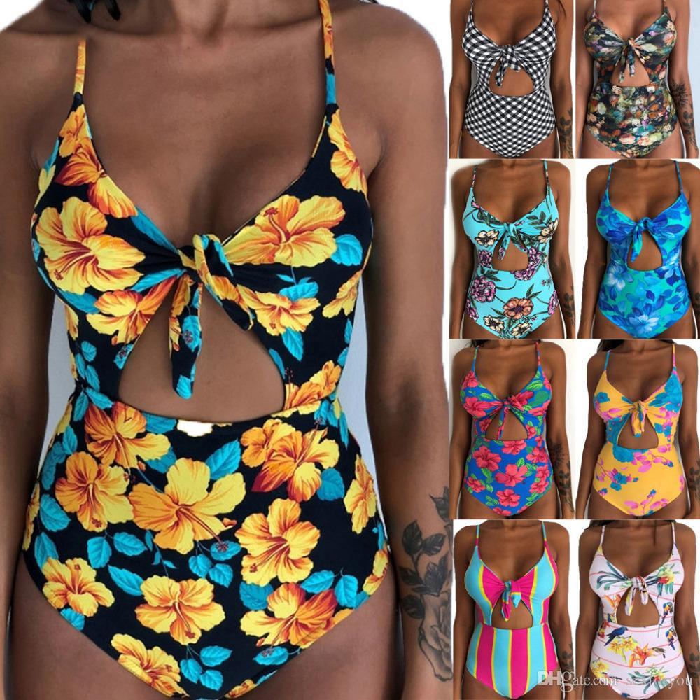 Trajes de mujeres con estilo de natación del traje de baño de Monokini Tankini acolchado empuja hacia arriba del bikini del traje de baño de las mujeres conjuntos de trajes de baño del traje de baño exquisito