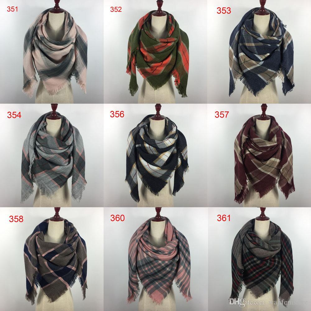 200 الألوان الشتوية الجديدة ترتان وشاح منقوشة بطانية وشاح 140x140cm مصمم جديد للجنسين الاكريليك الأساسية شالات النساء طرحة كبيرة الحجم الباشمينا