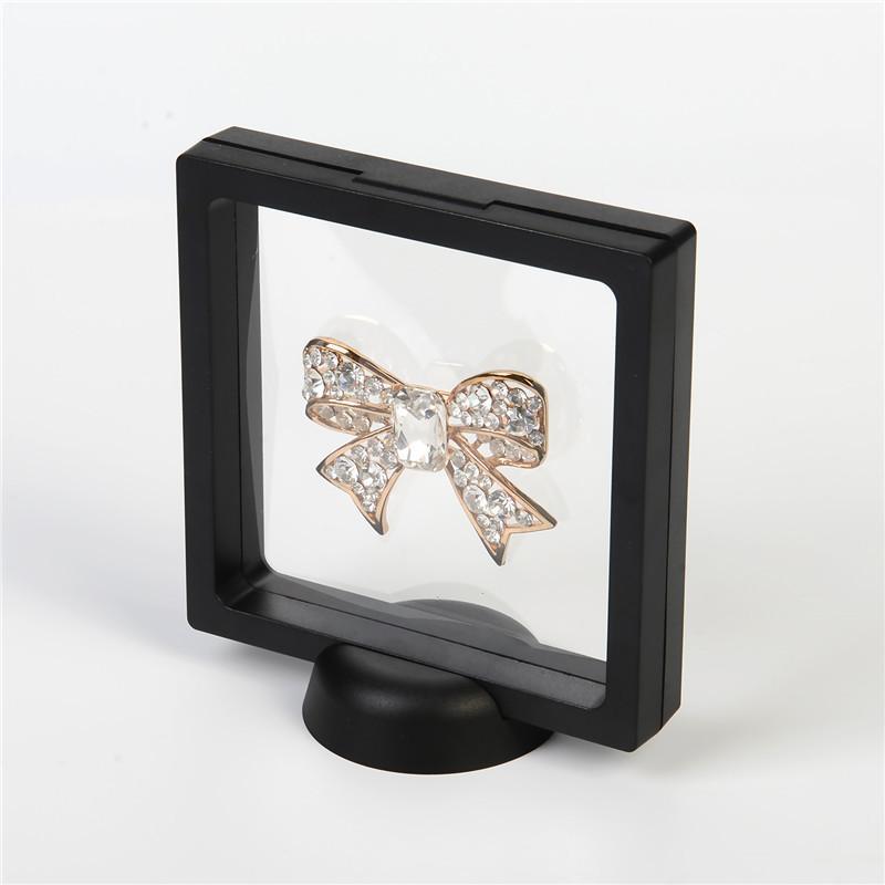 Transparente Jóia Suspenso flutuante Embalagem de joalharia Display Case Stand titular caixa de exibição Juwelen Gota boho transporte