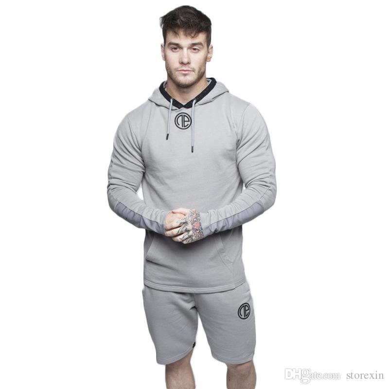2019 New Men's Sports Outdoor Training Leisure Cotton Hat Fashion Open Shirt Sanitary Clothing Factory gym Hoodie