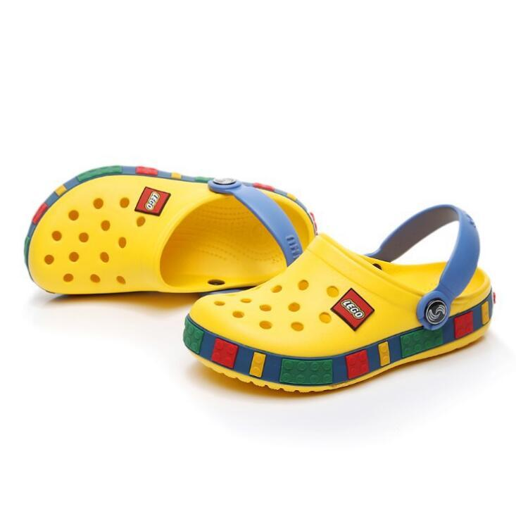 4-12years Children Sandals Beach Shoes Girls Boys Kids Rubber Mules Clogs Summer Shoes Breathable Outdoor Slippers Footwear