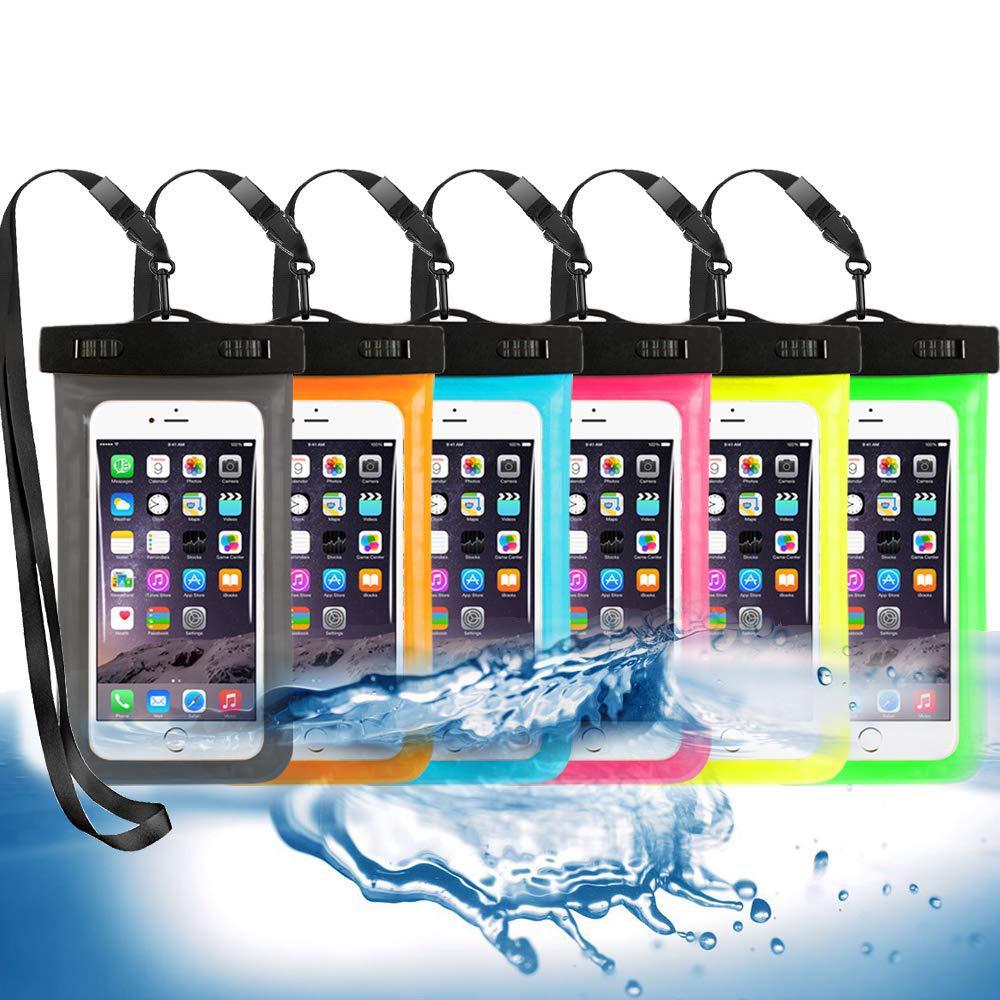 الحبل حقيبة السباحة للماء الهاتف المحمول الحقيبة الهاتف الذكي مختومة حزمة السباحة بركة شاطئ في البحر الغوص حقيبة التخزين