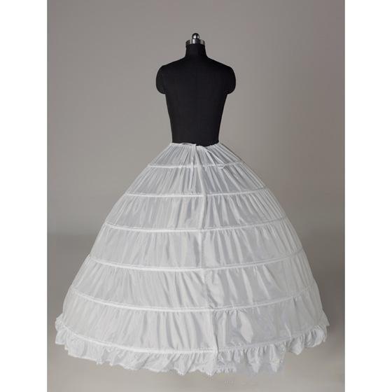 Venta caliente El más nuevo Gorgeous White 6 HOOP PETTICOAT crinolina SLIP Underskirt Vestido de boda BRIDAL Venta caliente