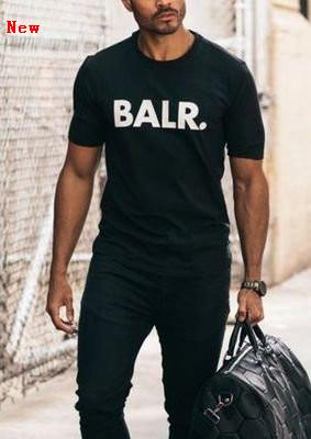 BALR Carta Impressão T Shirt Verão Mulheres Homens New Arrival Manga Curta Harajuku Tshirt Moda Casual Streetwear T-shirts ZJ13
