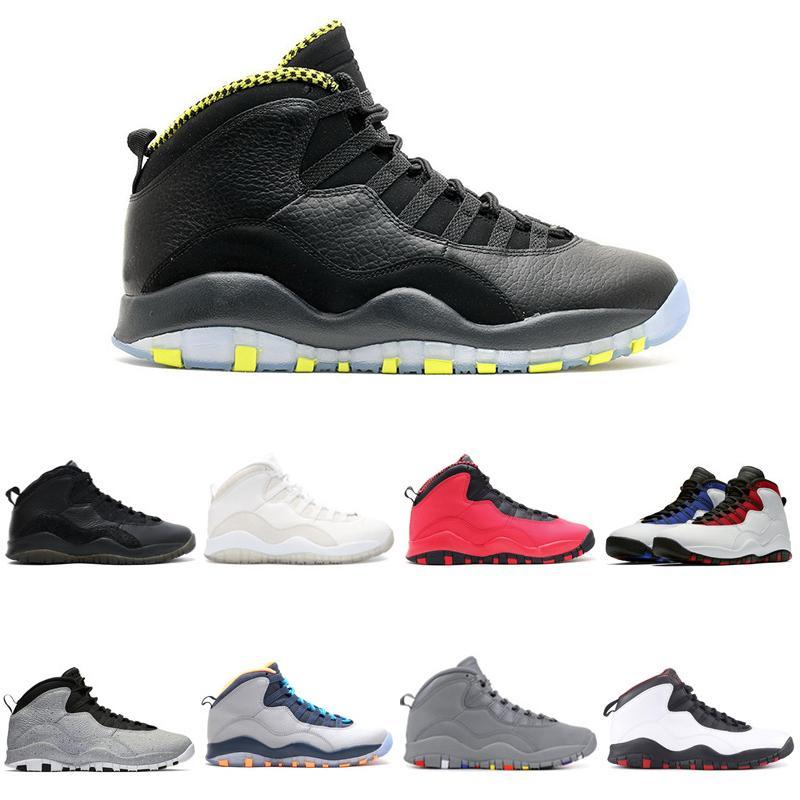 Venom 10 Chaussures de basket 10s X Westbrook Classe de 2006, fusion du ciment, venin rouge Im Back Sports Sneakers 7-13