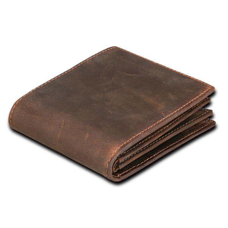 Rfid кошелек подлинная Crazy Horse кожаный бумажник мужчины небольшой Walet Portomonee мужской Cuzdan короткие портмоне портфолио держатель карты