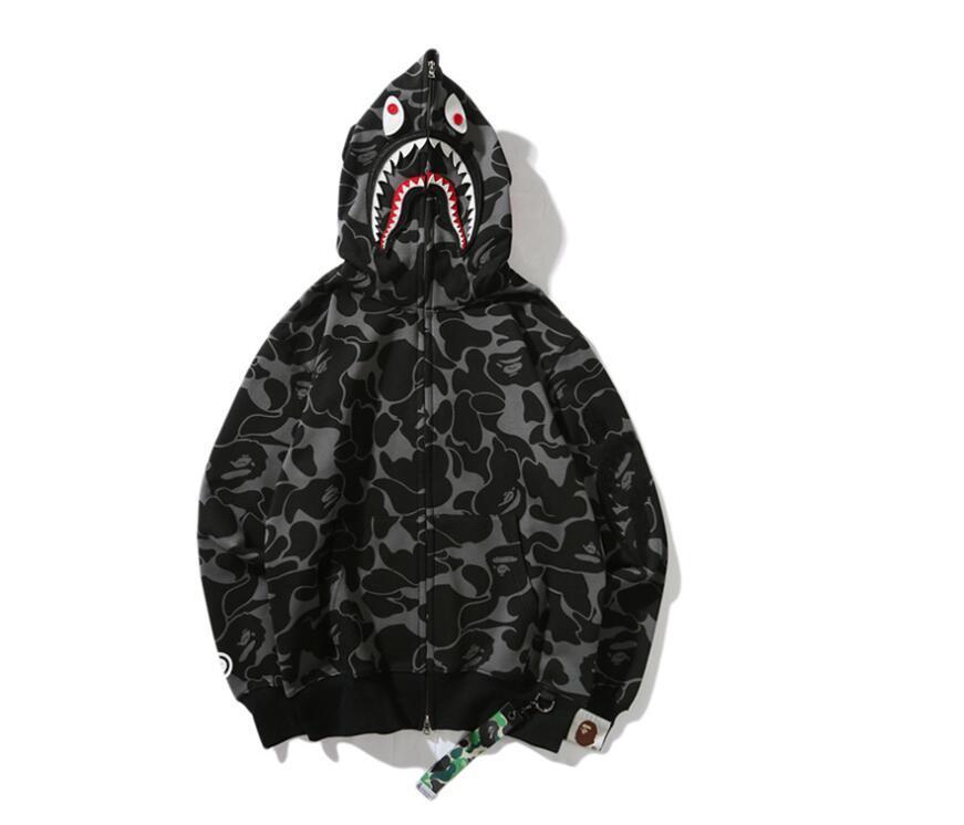 스포츠 캐주얼 까마귀 운동복 가을 편지 스트리트 남성 풀오버 스웨터 겨울 후드 스웨터 재킷 코트 쿨