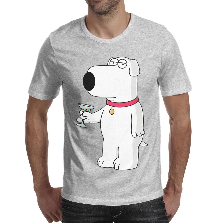 Men design printing cartoon family guy pet dog Brian red t shirt printing undershirt vintage make a band shirts slogan t shirt cotton b