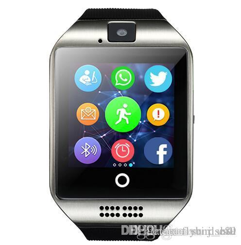 Foctory Price Bluetooth Smart Watch Q18 With Camera Facebook Whatsapp Twitter Sync SMS Smartwatch Support SIM TF Card For IOS Android