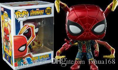 LXH Fer Spider Man Avengers Infinity War # 300 Funko Pop Marvel Comics Vinyl Figure garçon cadeau d'anniversaire