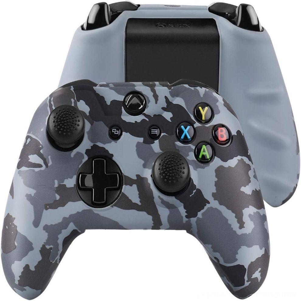 ZVoCU Pour Xbox One X Cas d'impression étui souple en silicone S Gamepad confortable peau contrôleur caoutchouc Joystick Couverture 2 Analog CapsDHL