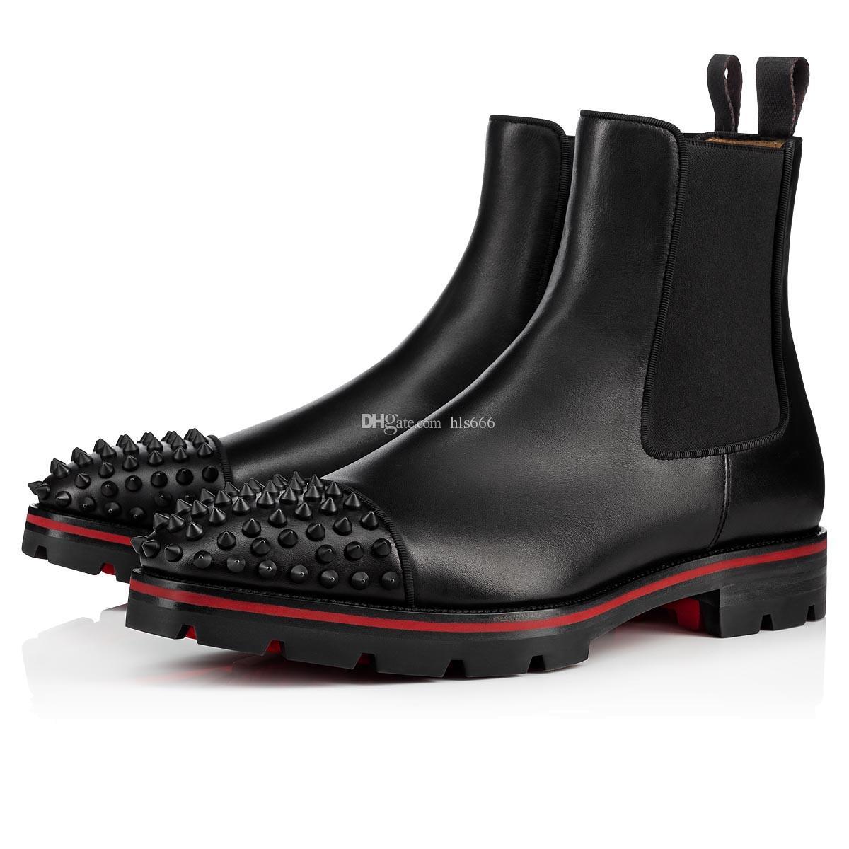 Rock Spikes Red Bottom Men Boots