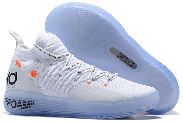 2019 الجديدة KD 11 EP الأبيض أورانج رغوة الوردي المذعور أوريو ICE أحذية في الهواء الطلق كيفن دورانت XI KD11 رجل مدرب حذاء Size40-46