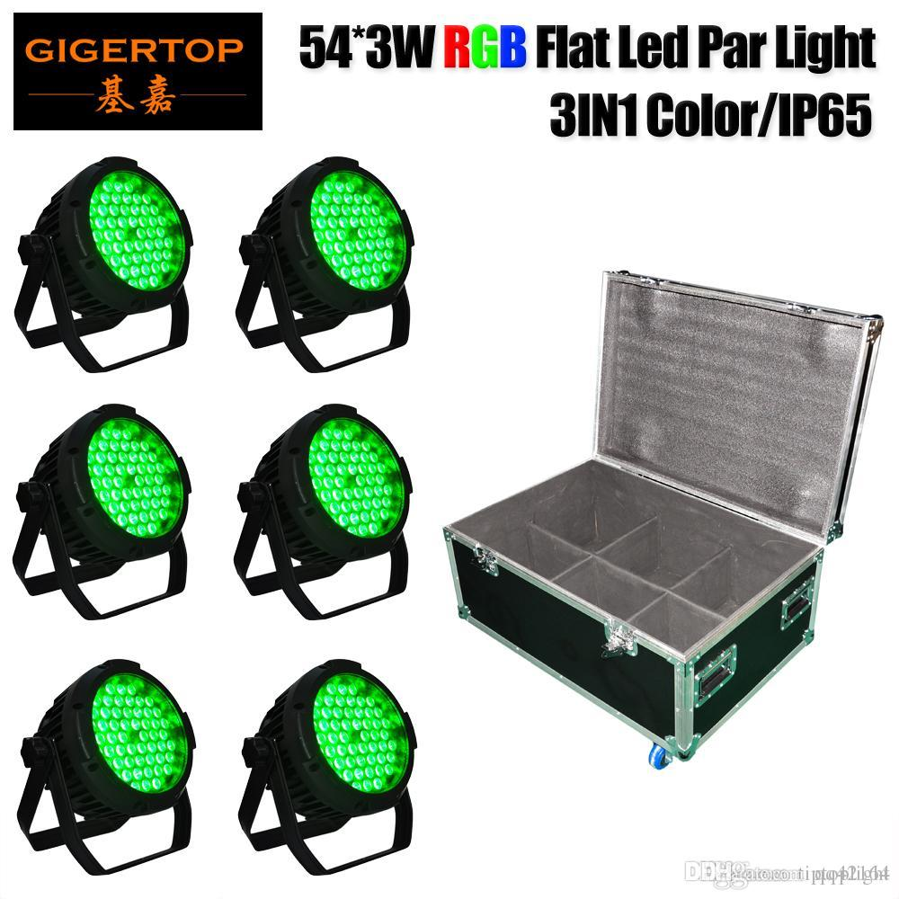 الصين المرحلة إضاءة 6IN1 يستعصي حالة حزمة 3W 54 Tyanshine LED ضوء غير محدود الألوان في الهواء الطلق PAR تركيبات ثلاثية اللون DMX-512 حزب ديسكو DJ