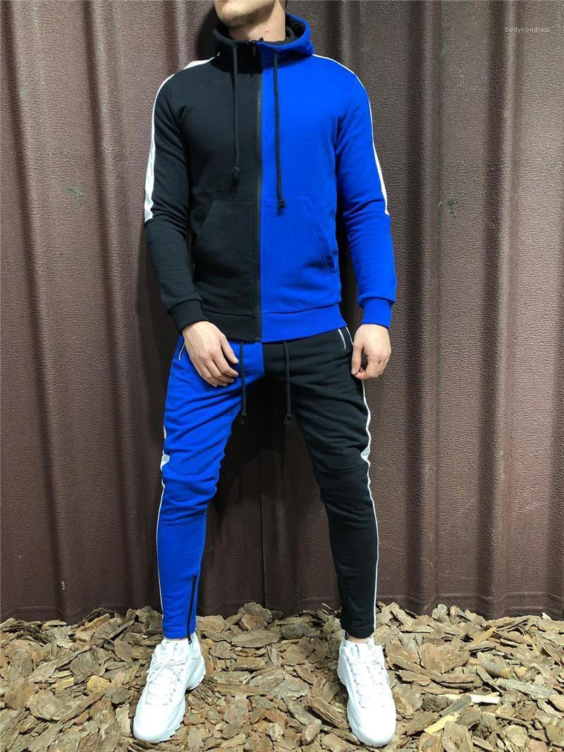 2PCS الملابس مجموعات مصمم رجالي رياضية الربيع الخريف الملابس الرياضية الدعاوى هوديس السراويل ركض