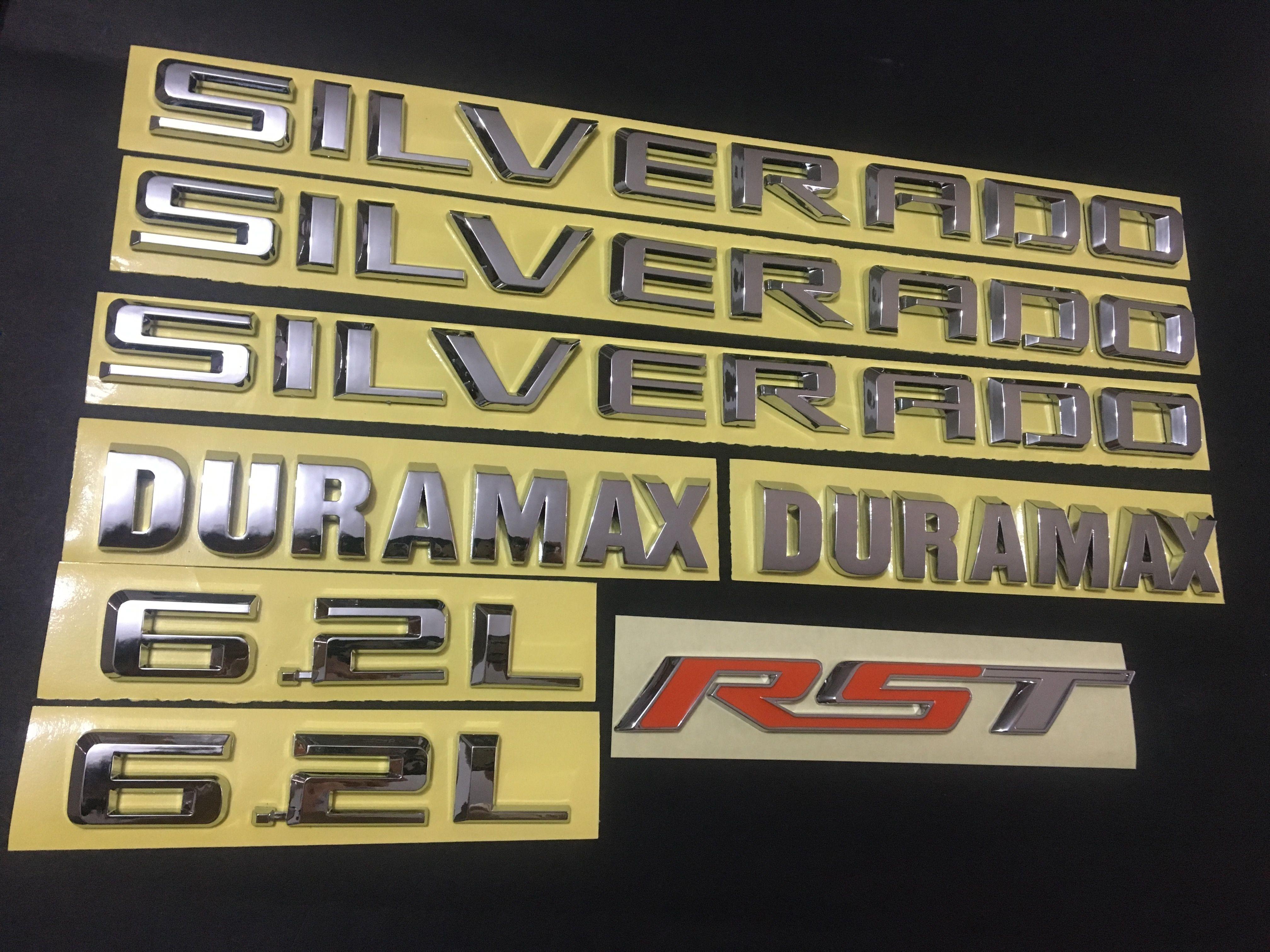 1PC Duramax RST 6.2L LTZ LT ماتي الأسود شعار كيت 2019-2021 سيلفرادو نيكس الجنرال