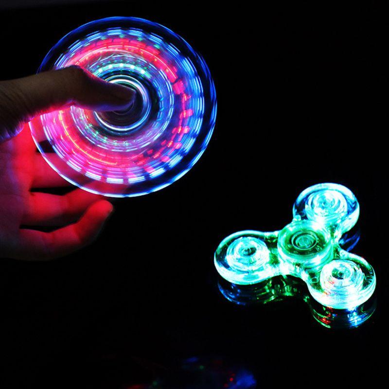 Lumina LED LIGHT Fidget Spinner Hands Top Spinners Ground en luz oscura EDC Fignet Spineter Dedo Estriezca alivio Juguetes