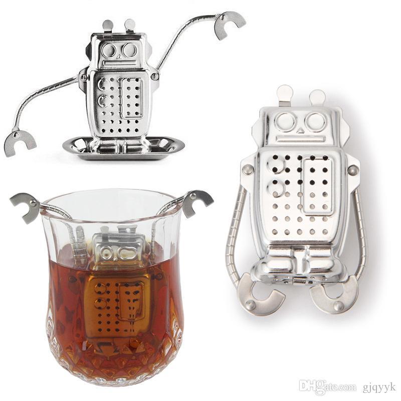 Filtre à thé en acier inoxydable Robot filtre à thé en vrac Infuser filtre à thé à épices à base de plantes diffuseur Outils à thé
