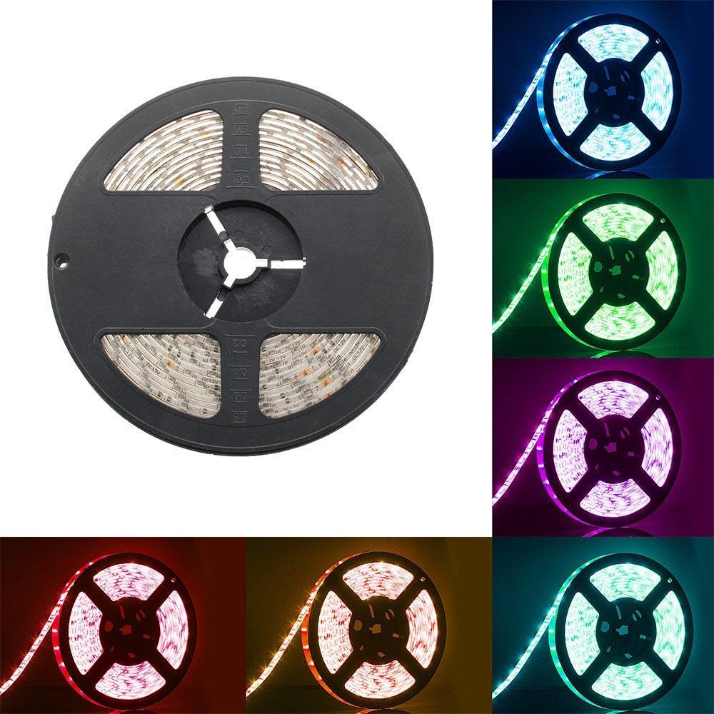 BRELONG SMD5050 방수 라이트 스트립 멀티 컬러 5M 300LEDs 12V 화이트 웜 화이트 옐로우 그린 블루 레드 레드 RGB