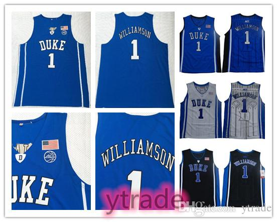 2019 Duke Blue Devils Zion Williamson NCAA College Jersey Mens University Williamson Camiseta de baloncesto Camisetas Azul Blanco Negro S-3XL