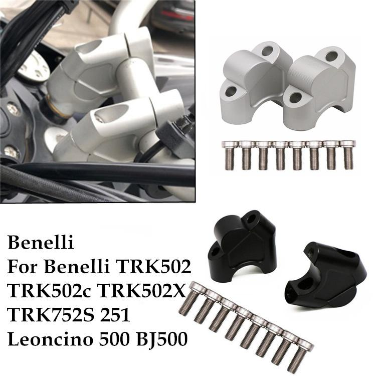 Motorcycle CNC Side Stand Enlarger Plate Kickstand Enlarge Extension for Benelli TRK502 TRK 502 JDDRUS Parts