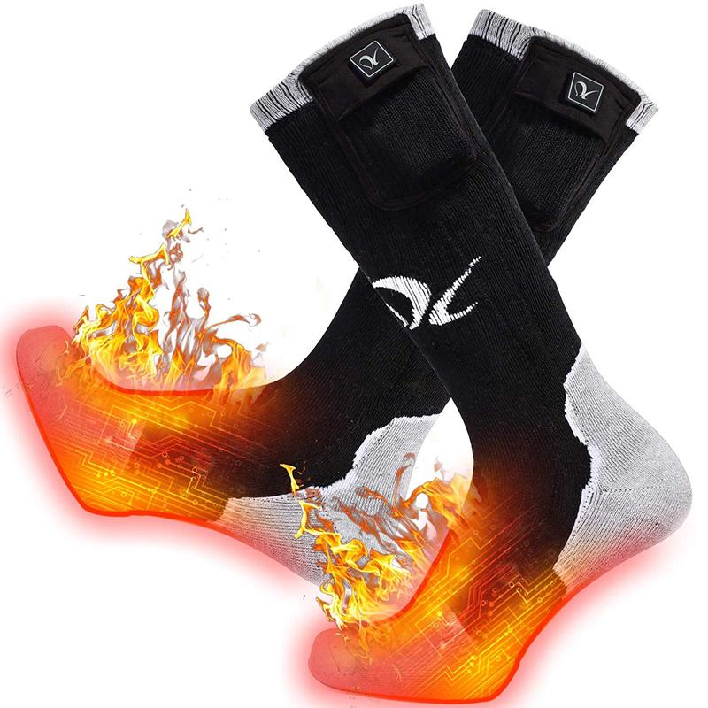 Riscaldata Calze invernali elettrici 3 Impostazioni riscaldamento ricaricabili calzini termici per uomini e donne