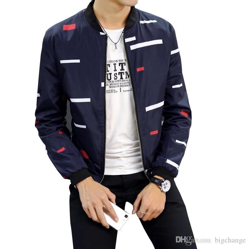 Мужская куртка Новая осень Хит цвет сшивание нашивки Trend Молодёжных вскользь куртка Больших Мужская одежда