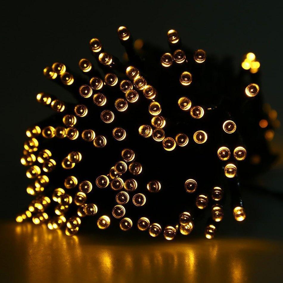 Venta al por mayor -2016 mejor de la venta 22m 200 LED cadena de luz con energía solar LED de colores Hada exterior llevó la lámpara Por vacaciones del partido del festival de Navidad