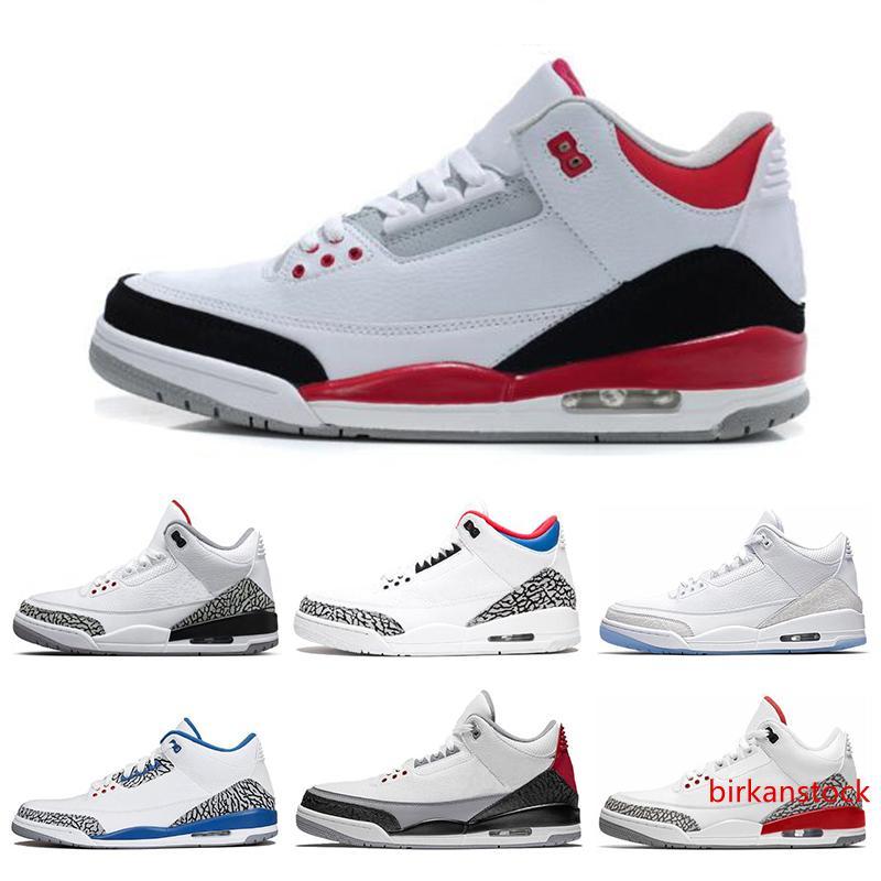 Yeni varış 3 3s basketbol ayakkabıları Uluslararası Uçuş Siyah Çimento Ateş Kırmızı Ücretsiz atmak Hat Minnettar spor boyutu 7-13 sneaker