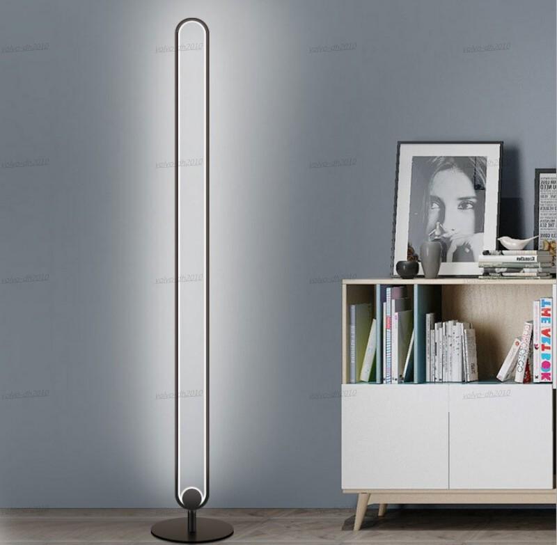 Modern Minimalist Zemin Lambaları Metal LED Kat Lambası Oturma Odası Yatak Odası Ayakta Lamba Çalışma Lambası Standı Dim Zemin Işık LLA