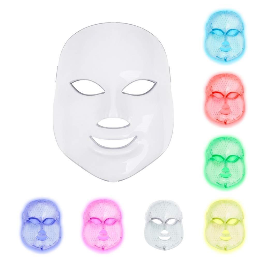 7 ألوان خفيفة العناية بالبشرة تجديد التجاعيد حب الشباب إزالة الوجه الجمال سبا الجمال الفوتون الصمام قناع الوجه العلاج