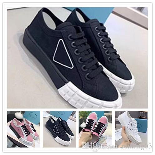 2020 mais recente de luxo designer de passarela mulheres sapatilhas pneu textura de borracha Mulheres Sole alta-top sapatos e mulheres de baixo-top sapato 0q44