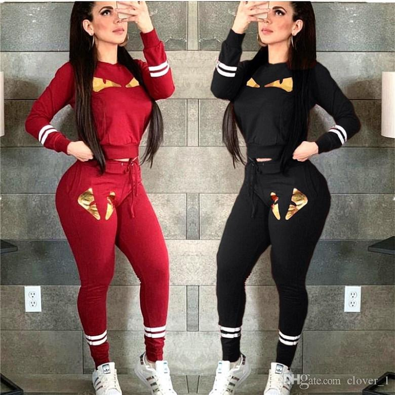 womens long sleeve tracksuit pullover pants sportswear hoodie legging 2 piece set sweat suit outerwear tights outfits very hot hot2831