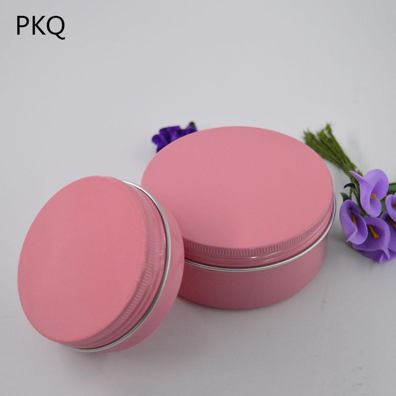 20pcs 60g/150g Empty Aluminum Jars Pink Cosmetic Bottle Cream Sample Packaging Containers Screw Cap Aluminum can