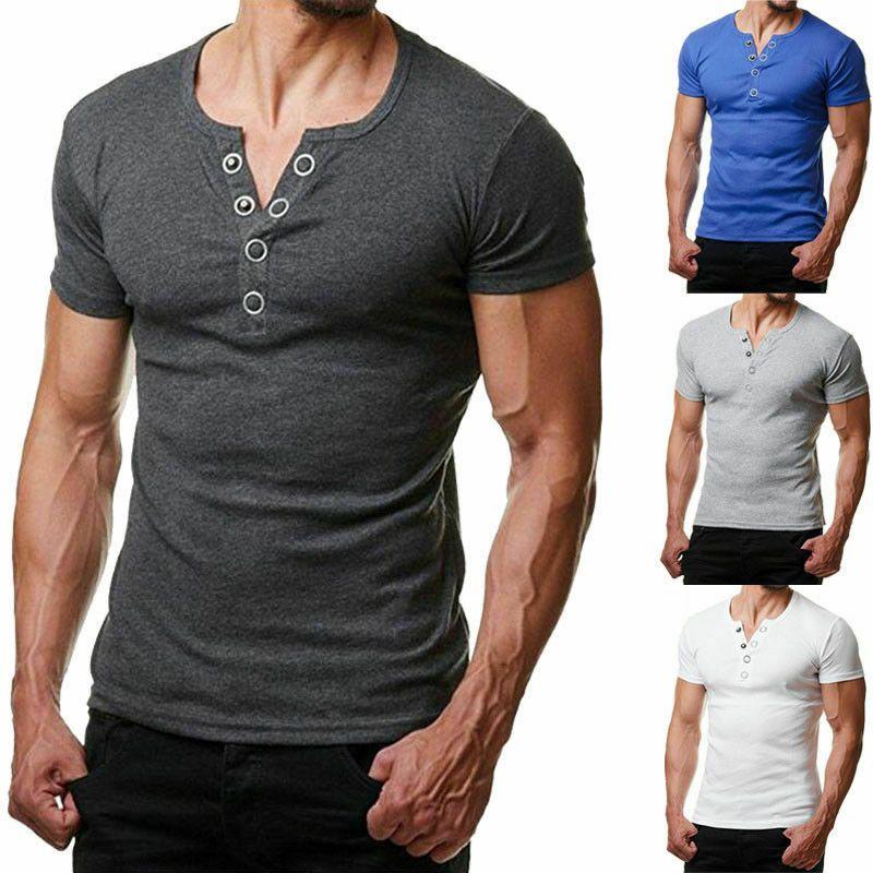 UK Mens Slim Short Sleeve T Shirt Hoodie Hooded Muscle Tops Solid Casual Shirts