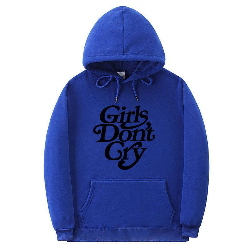 Las niñas adolescentes no lloran sudaderas otoño del resorte de la letra diseño de impresión con capucha cuello de bolsillo Loose Deporte Sudaderas Pareja Casul ropa