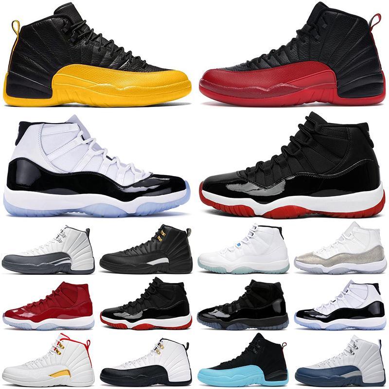 nike air jordan retro basketball Chaussures de basket-ball pour hommes 12 12s Dark Grey Flu game Royal The Master 11 11s Bred Concord Space jam hommes femmes baskets de sport