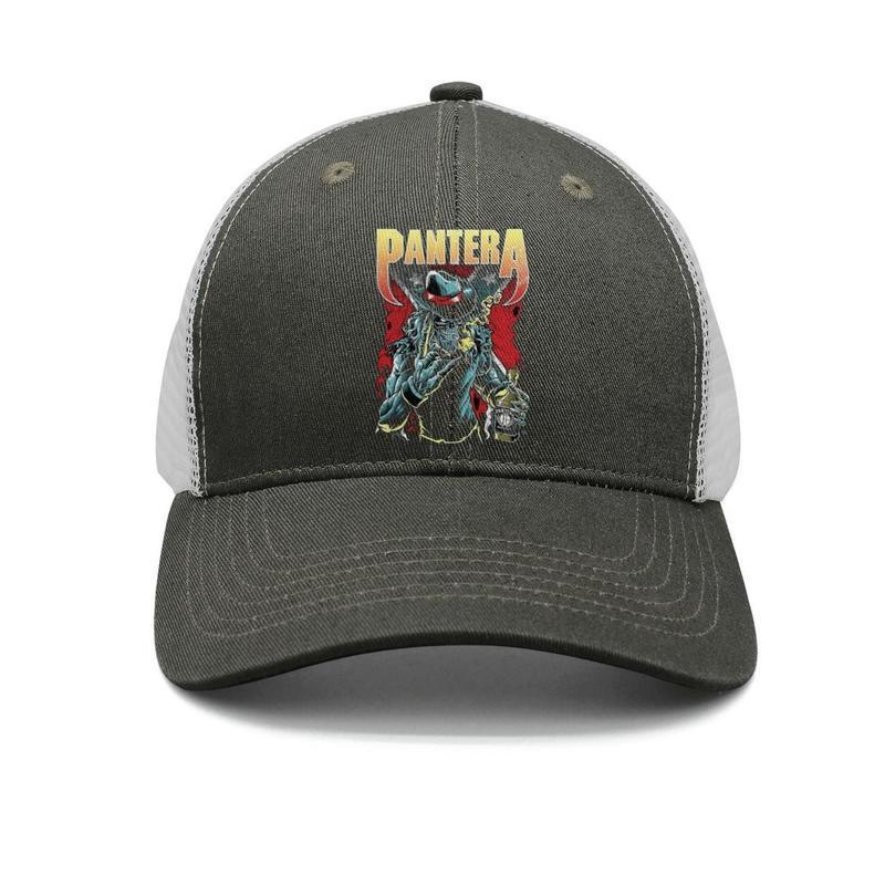 Pantera Band Heavy Metal Rock army-green mens and women trucker cap baseball design fitted running hats