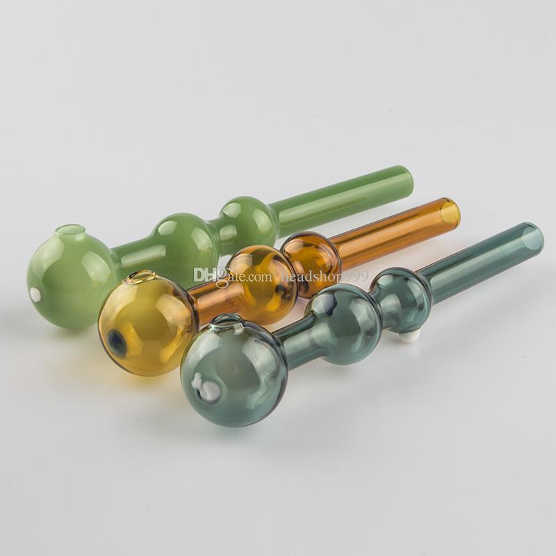 Pyrex Glas Ölbrenner Rohr Dab Rig 30mm OD Kugeltabakpfeifen Glas Bubbler Für Bohrinsel Bong-Werkzeug