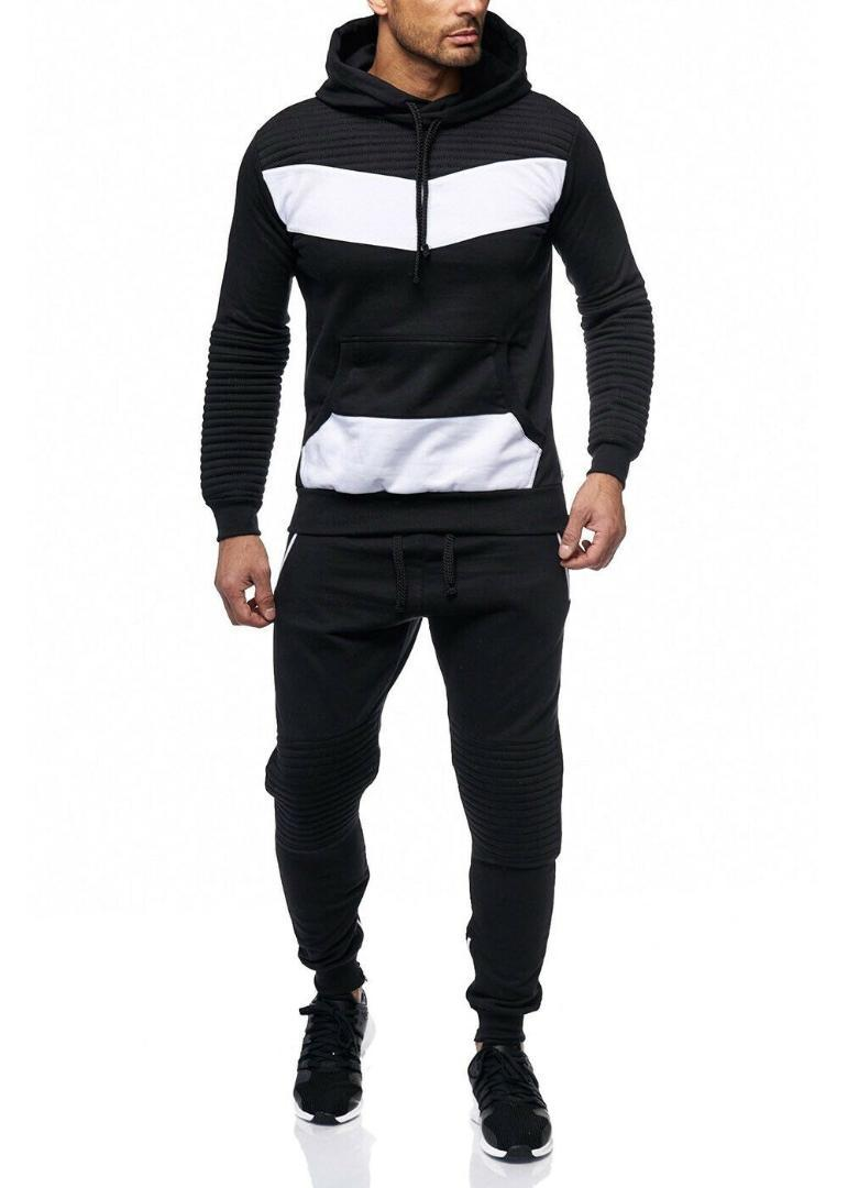 Chándal de los hombres Zogaa Men Tracksuit 2 Conjuntos de chaqueta de moda Sportswear Sweetpants Sudaderas Spring y otoño Brand Pantalones