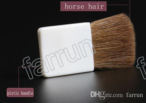 new blusher brush single one 3 color for choice flat blush brush horse hair plastic handle with Fingerprint promtion item hot sell makeup