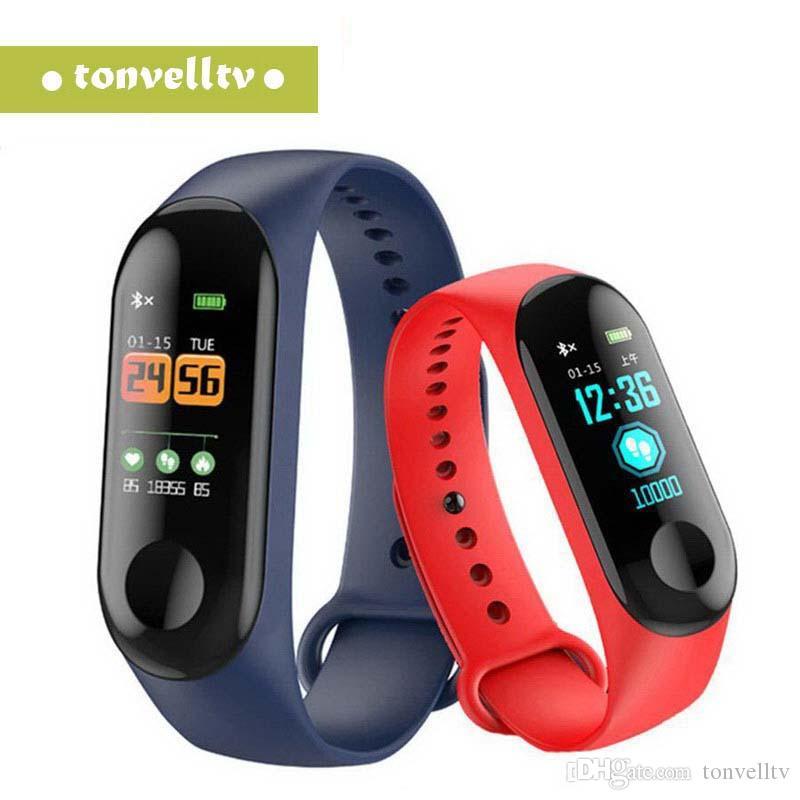 M3 Plus HR Smart Wristband Band фитнес-браслет большой сенсорный экран напоминание сердечного ритма трекер Smart Band часы DHL бесплатно