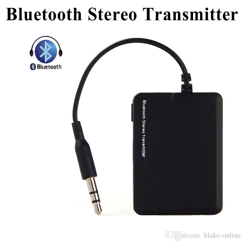 Black ABS Wireless BT Transmitter Stereo Audio Music Adapter for TV Phone PC