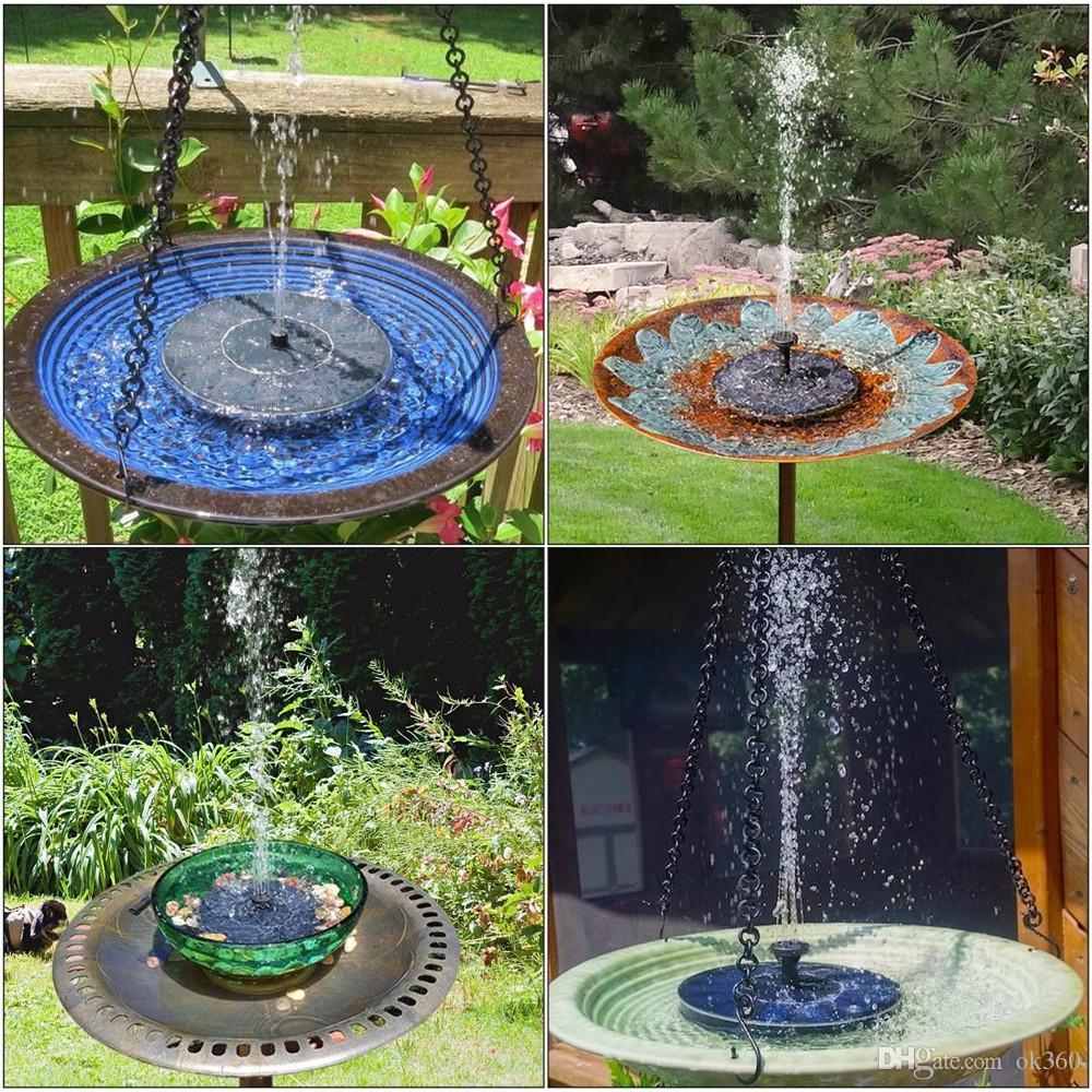 Bassin Fontaine De Jardin acheter pompe À eau flottante de fontaine d'énergie solaire pour la piscine  de bassin de jardin de réservoir de poissons arrosant les pompes