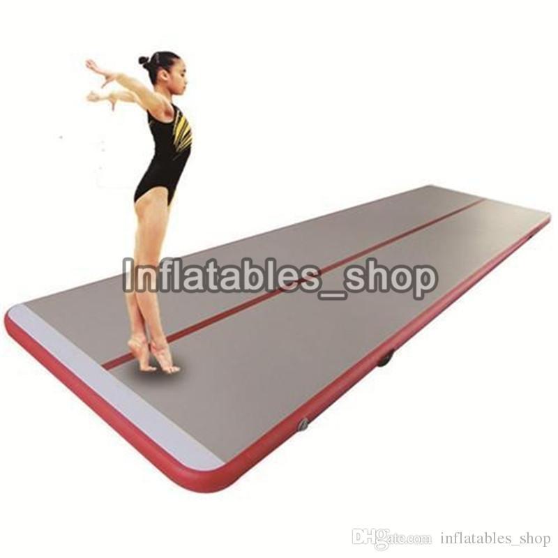 Ücretsiz Kargo Kapı Kapı 6x1x0.1 m Satılık Jimnastik Şişme Hava Parça Yuvarlanan Mat Spor Salonu AirTrack