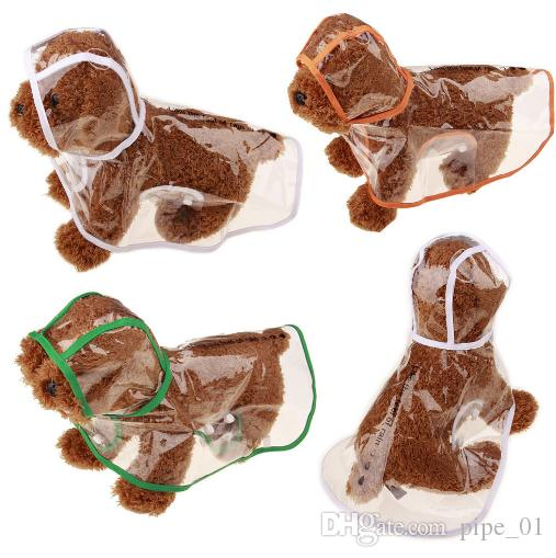 Waterproof Dog Clothes Raincoat Transparent Rain Coat Pet Dog Clothes Raincoat Clothes For Small Dogs