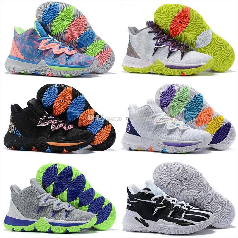 2019 Kyrie Taco Black Magic Sky stella Mens all'aperto di pallacanestro Scarpe Chaussures 5s Size 5 Uomini arcobaleno nero sport scarpe da tennis degli Stati Uniti 7-12