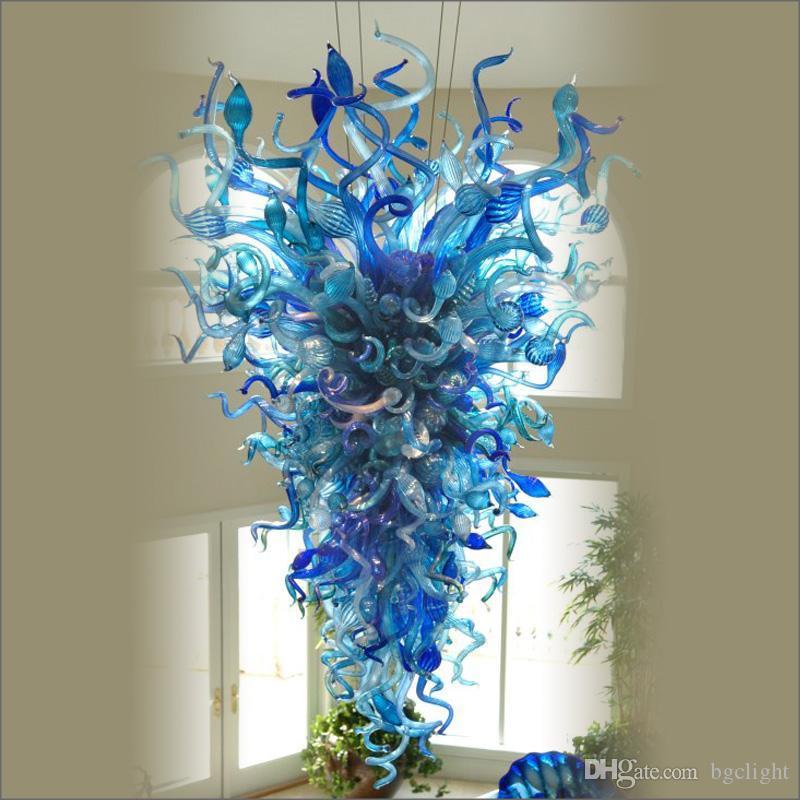 Cercle personnel cristal unique décoratif design de verre Lampes style Tiffany 100% soufflée à la bouche en verre avec 110v-240v Ampoules LED
